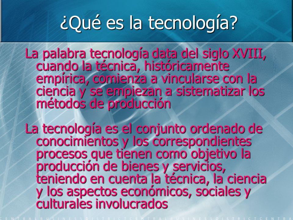 ¿Qué es la tecnología