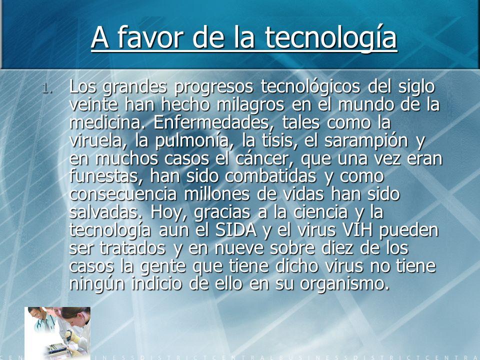 A favor de la tecnología