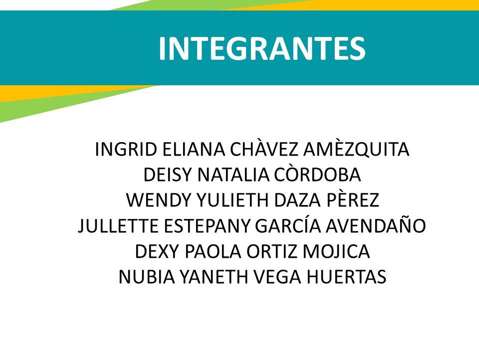 INTEGRANTES INGRID ELIANA CHÀVEZ AMÈZQUITA DEISY NATALIA CÒRDOBA