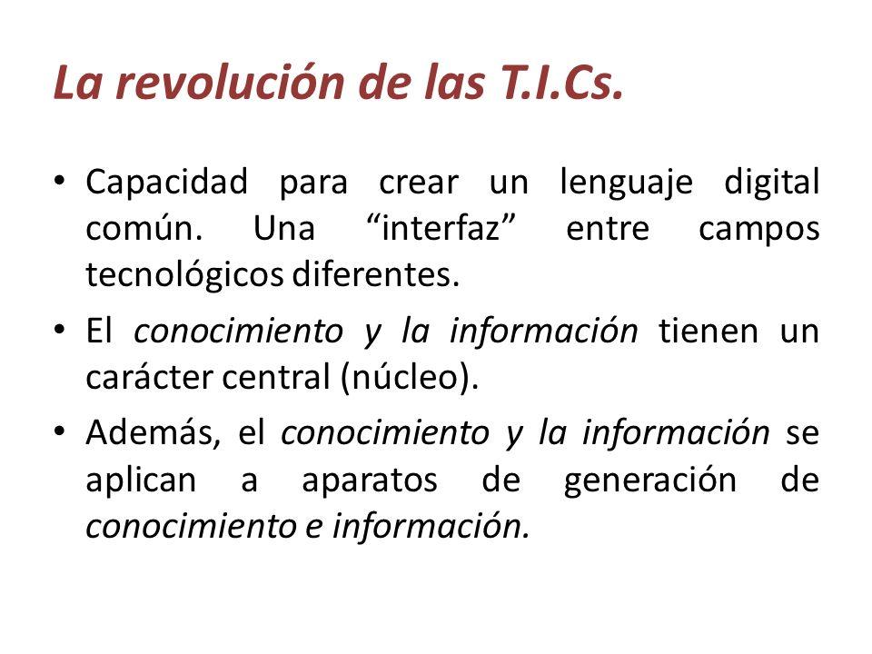La revolución de las T.I.Cs.