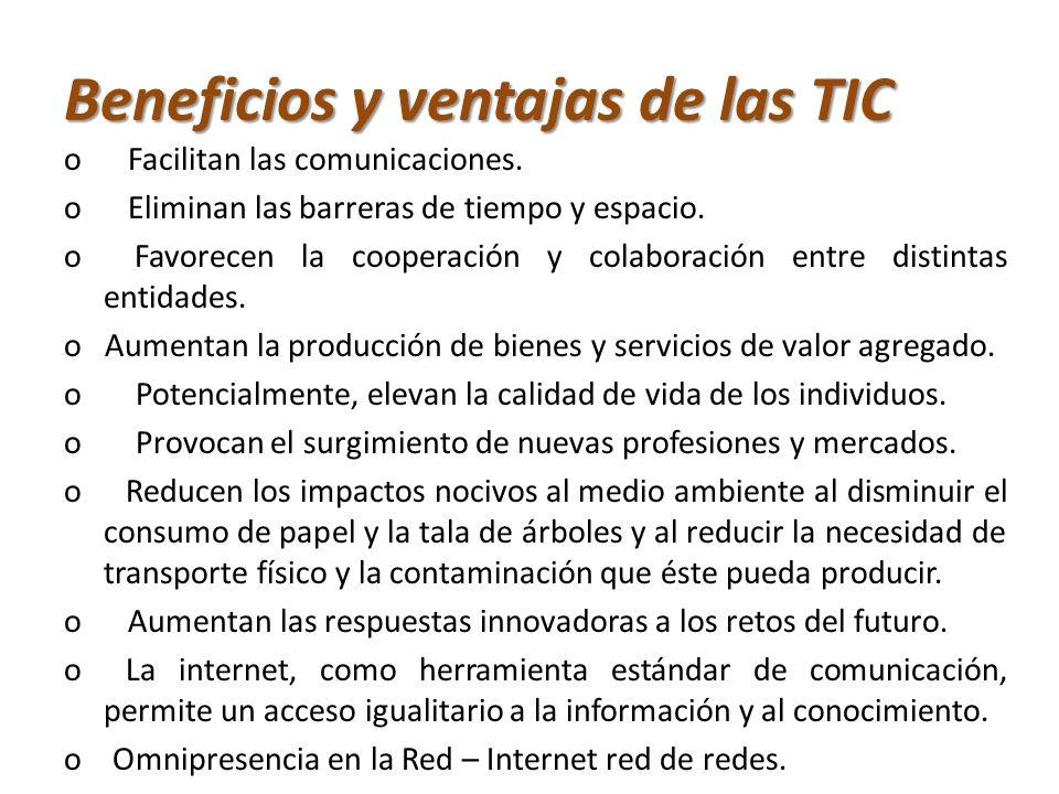 Beneficios y ventajas de las TIC