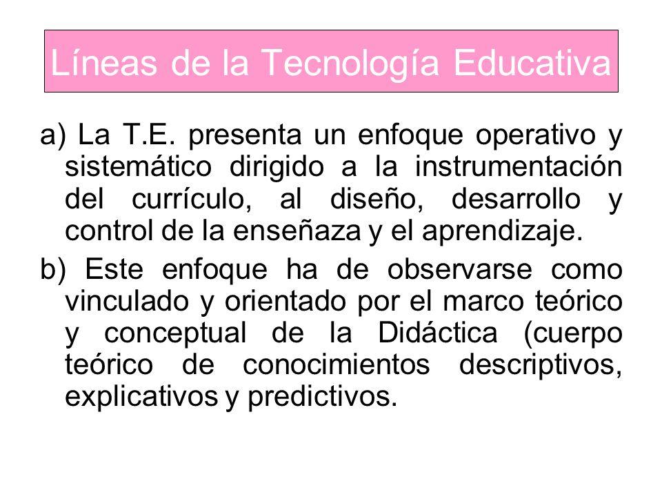 Líneas de la Tecnología Educativa