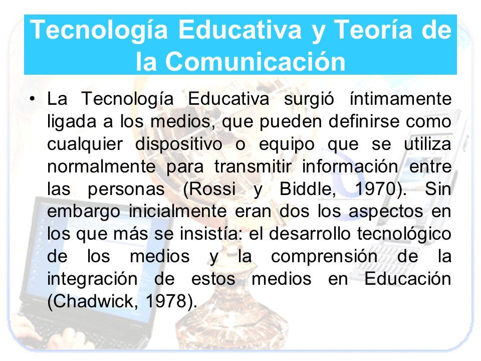 Tecnología Educativa y Teoría de la Comunicación