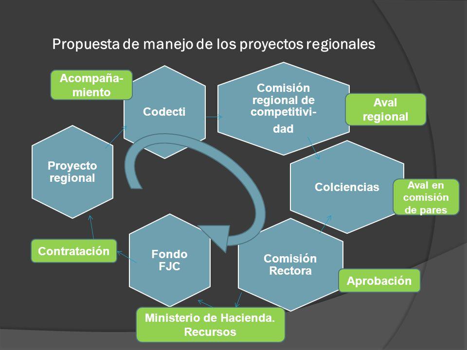 Propuesta de manejo de los proyectos regionales