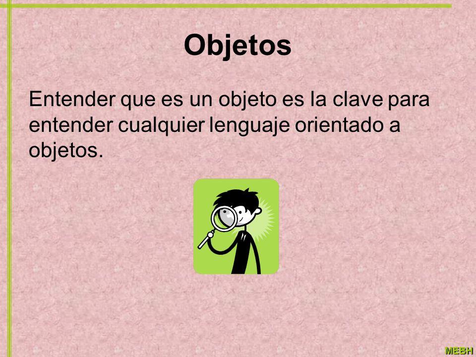 Objetos Entender que es un objeto es la clave para entender cualquier lenguaje orientado a objetos.