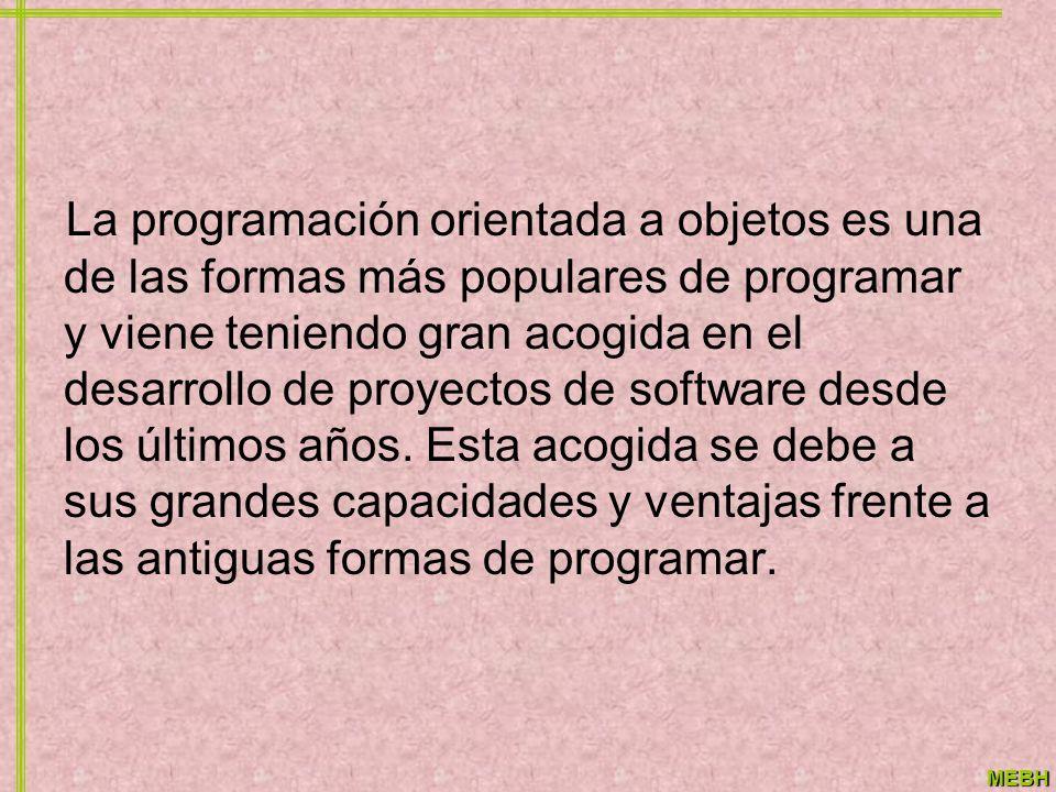 La programación orientada a objetos es una de las formas más populares de programar y viene teniendo gran acogida en el desarrollo de proyectos de software desde los últimos años.