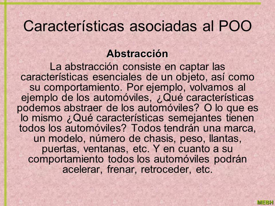 Características asociadas al POO