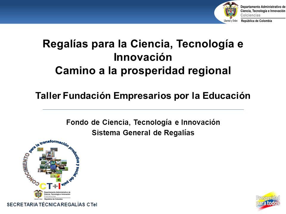 Fondo de Ciencia, Tecnología e Innovación Sistema General de Regalías