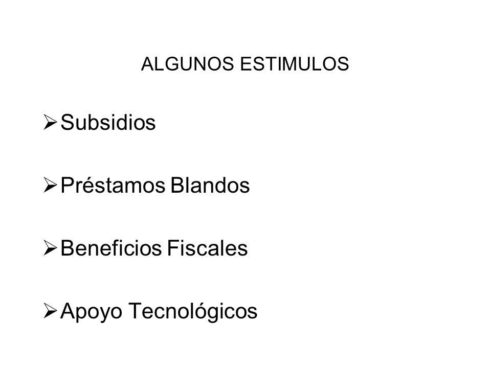 Subsidios Préstamos Blandos Beneficios Fiscales Apoyo Tecnológicos