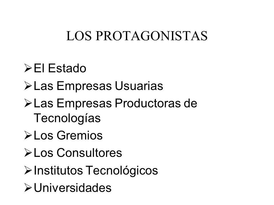 LOS PROTAGONISTAS El Estado Las Empresas Usuarias