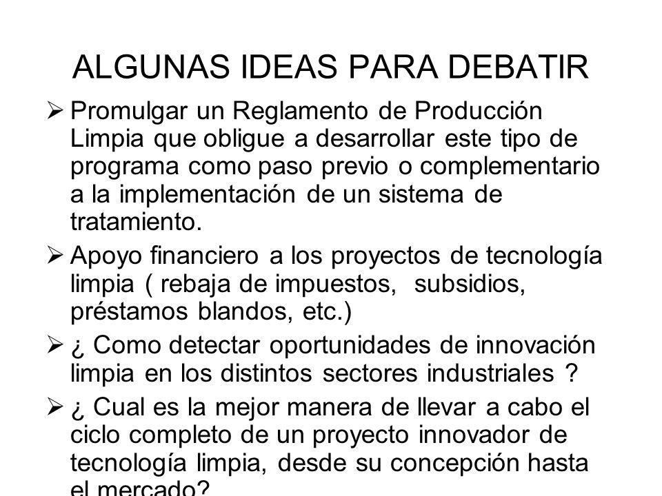 ALGUNAS IDEAS PARA DEBATIR