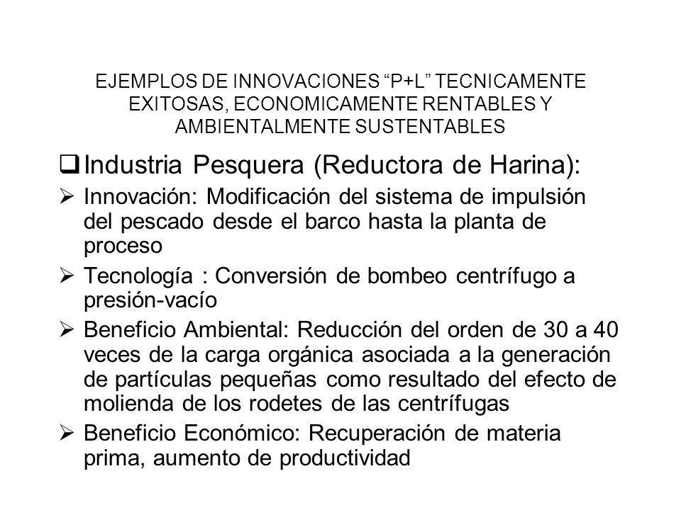 Industria Pesquera (Reductora de Harina):