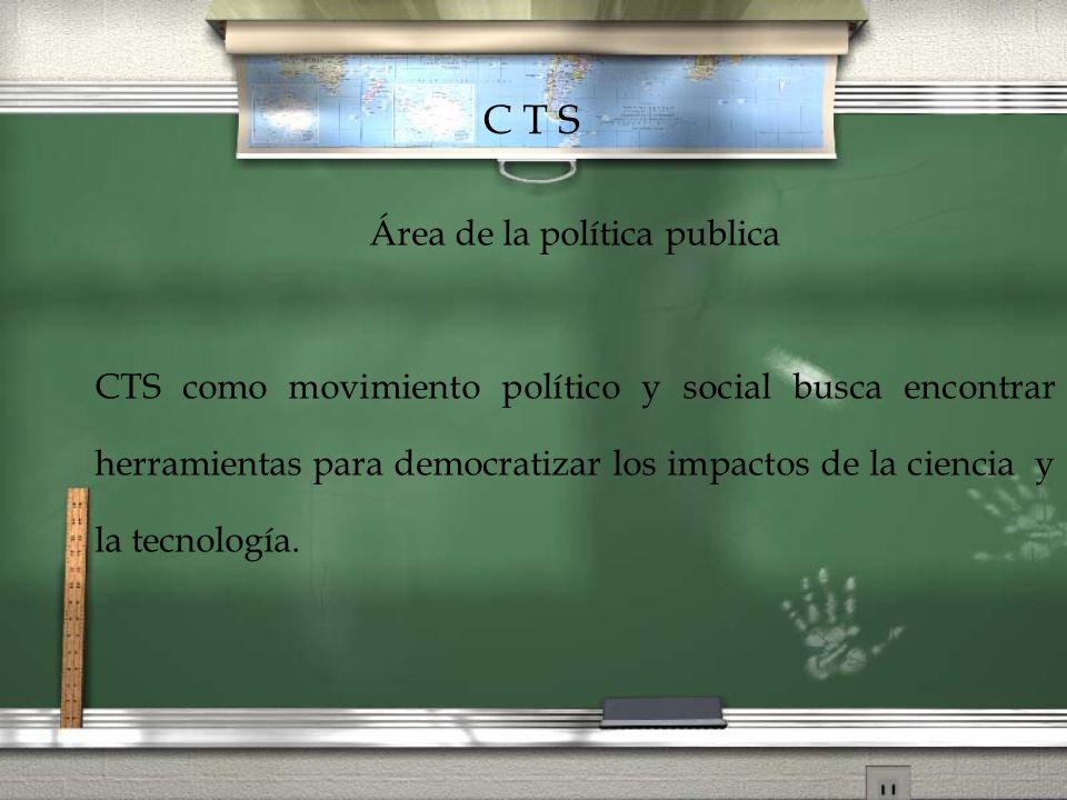 Área de la política publica