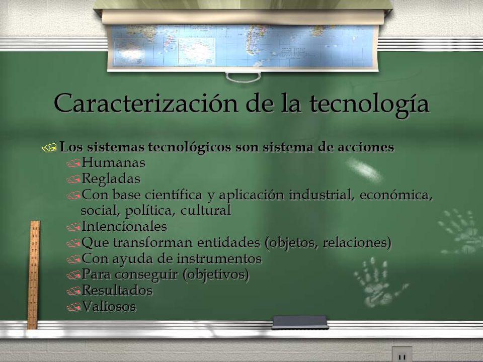 Caracterización de la tecnología