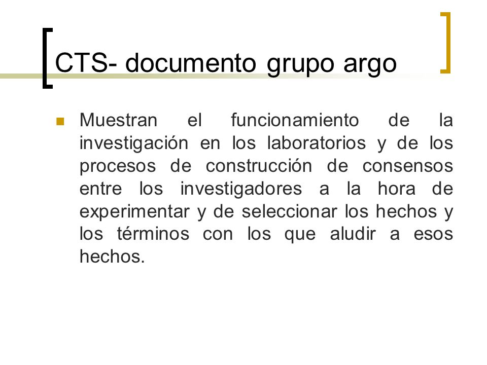 CTS- documento grupo argo