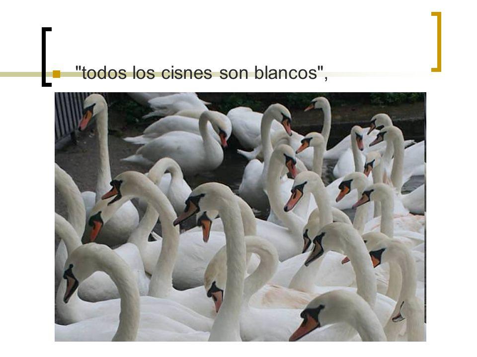 todos los cisnes son blancos ,