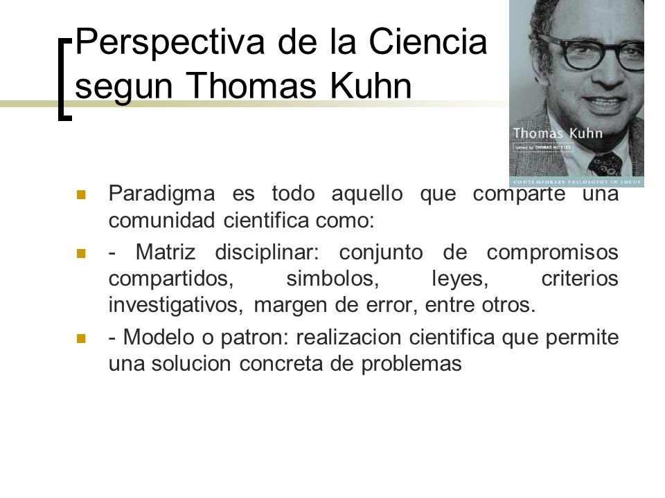 Perspectiva de la Ciencia segun Thomas Kuhn