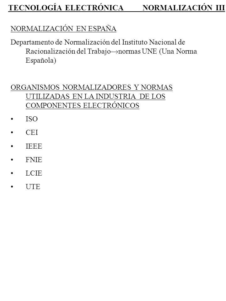 TECNOLOGÍA ELECTRÓNICA NORMALIZACIÓN III