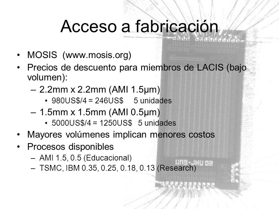 Acceso a fabricación MOSIS (www.mosis.org)