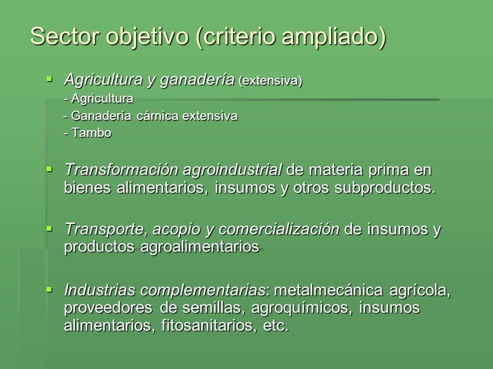 Sector objetivo (criterio ampliado)
