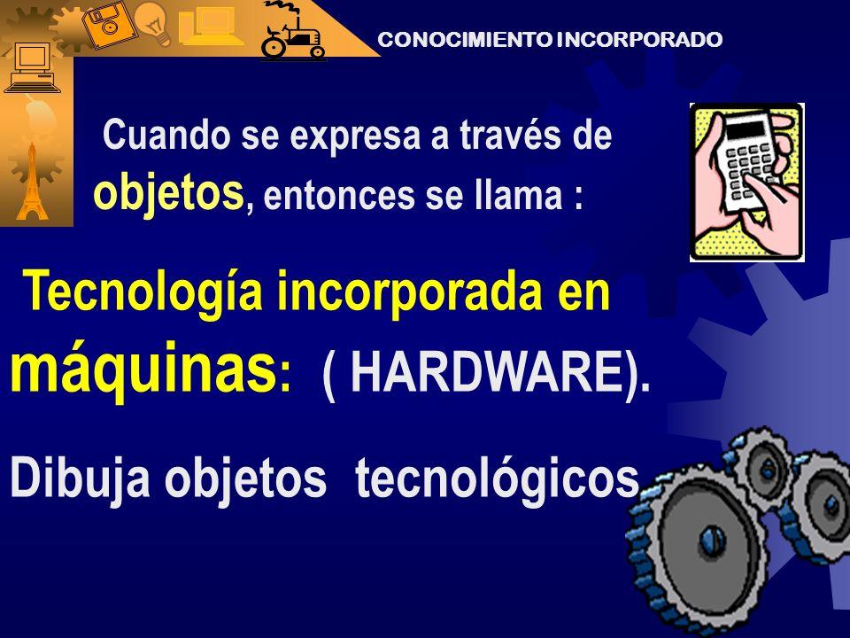 Tecnología incorporada en máquinas: ( HARDWARE).