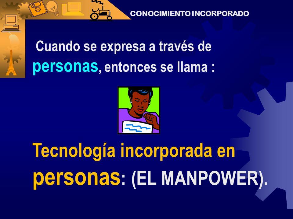Tecnología incorporada en personas: (EL MANPOWER).