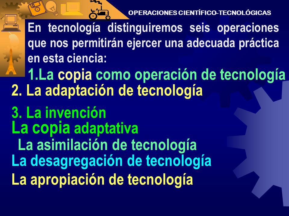 La copia adaptativa 1.La copia como operación de tecnología