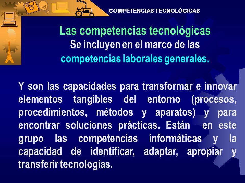 Las competencias tecnológicas