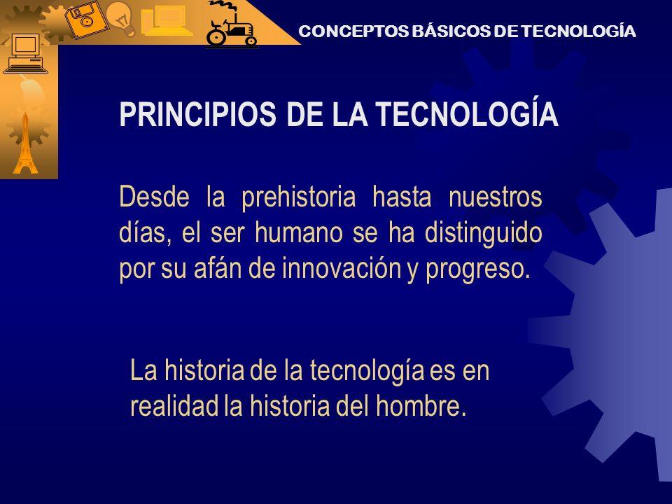 PRINCIPIOS DE LA TECNOLOGÍA