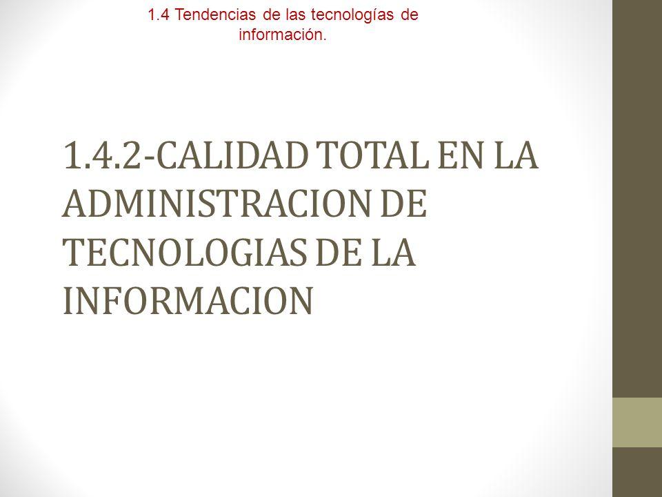 1.4 Tendencias de las tecnologías de