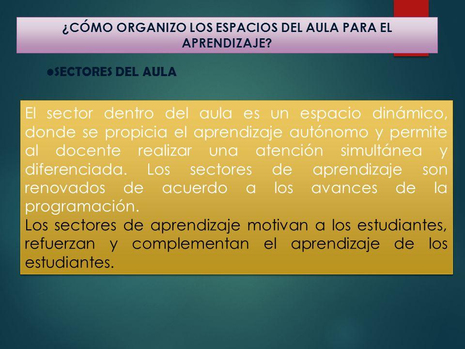 ¿CÓMO ORGANIZO LOS ESPACIOS DEL AULA PARA EL APRENDIZAJE