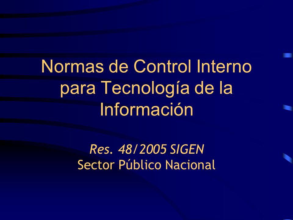 Normas de Control Interno para Tecnología de la Información Res