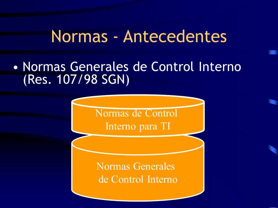 Normas de Control Interno para TI
