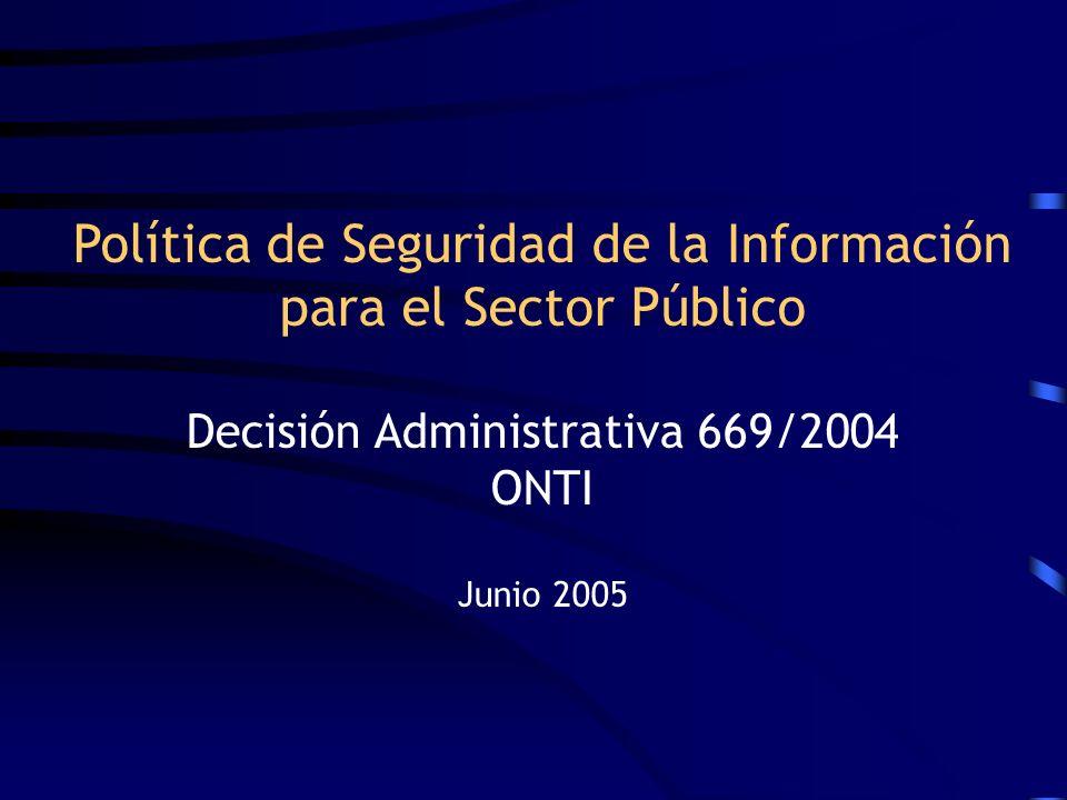 Política de Seguridad de la Información para el Sector Público