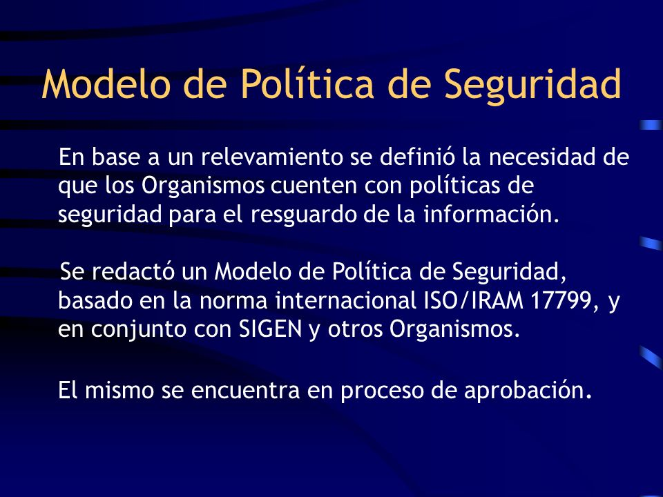 Modelo de Política de Seguridad