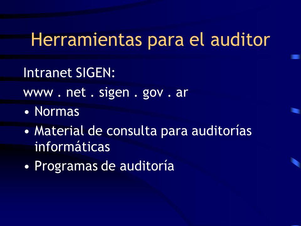 Herramientas para el auditor