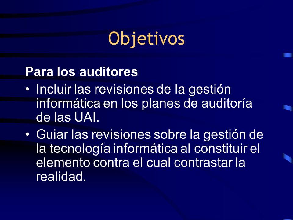 Objetivos Para los auditores