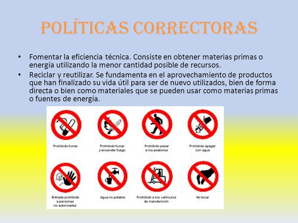 Políticas correctoras