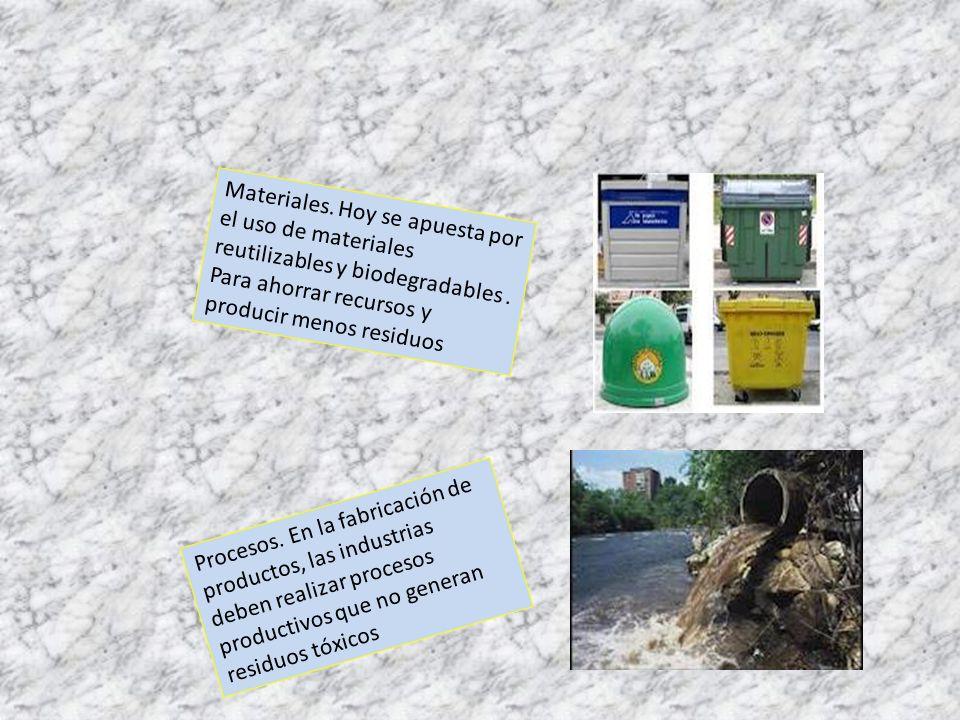 Materiales. Hoy se apuesta por el uso de materiales reutilizables y biodegradables . Para ahorrar recursos y producir menos residuos