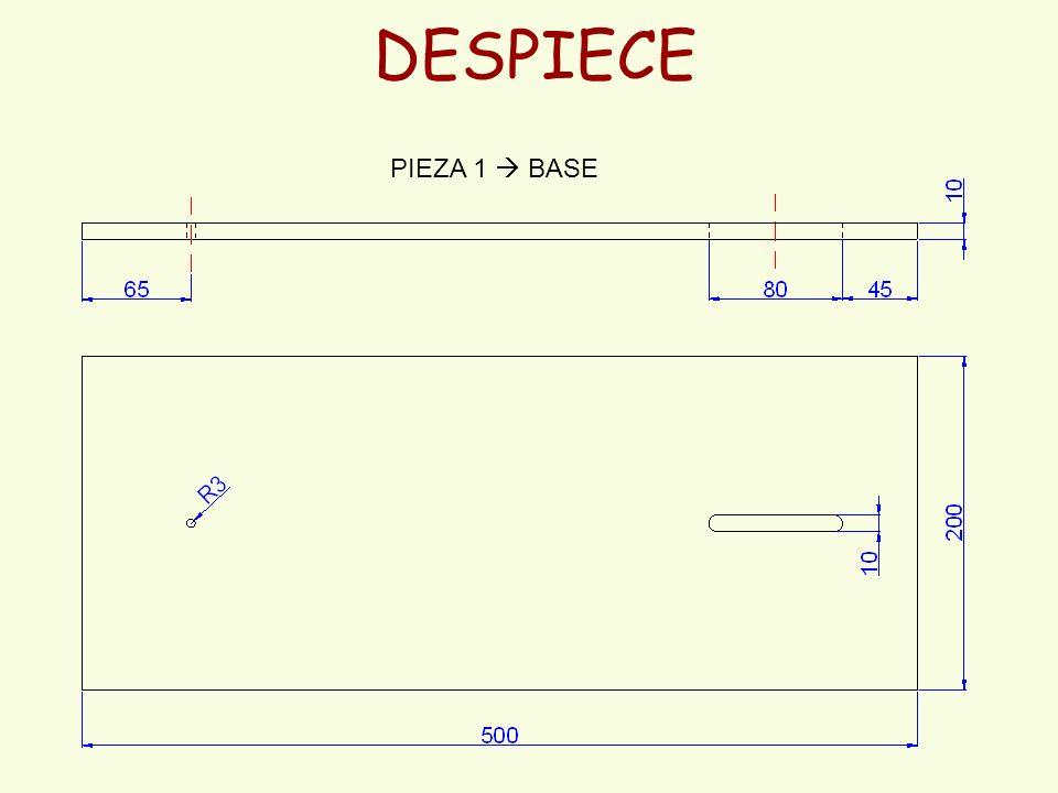 DESPIECE PIEZA 1  BASE