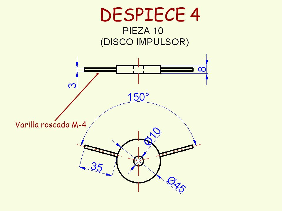 DESPIECE 4 Varilla roscada M-4