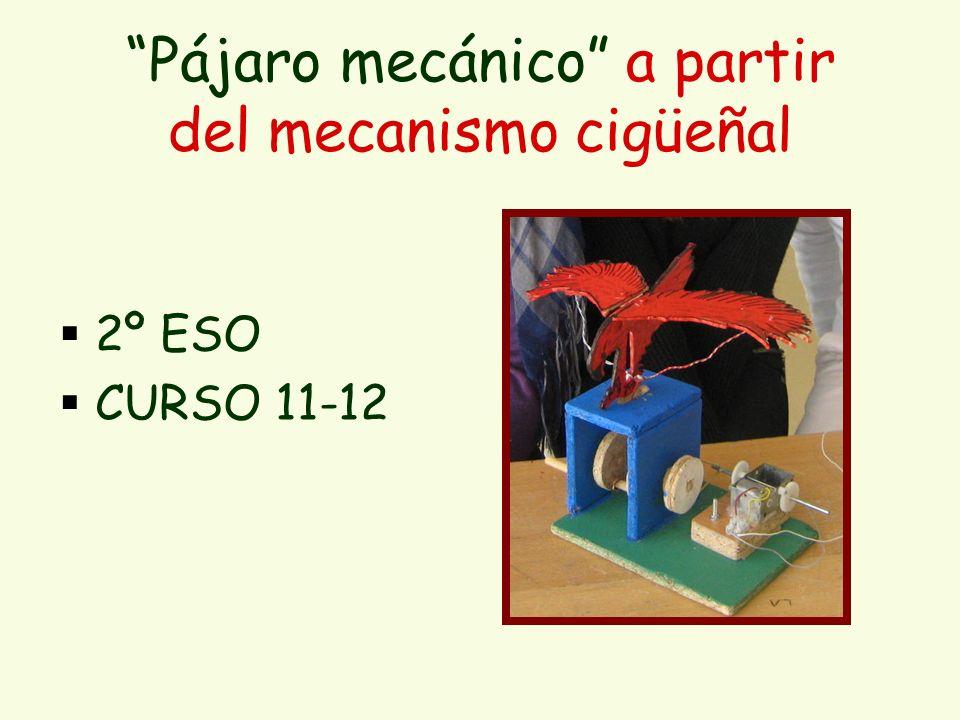 Pájaro mecánico a partir del mecanismo cigüeñal