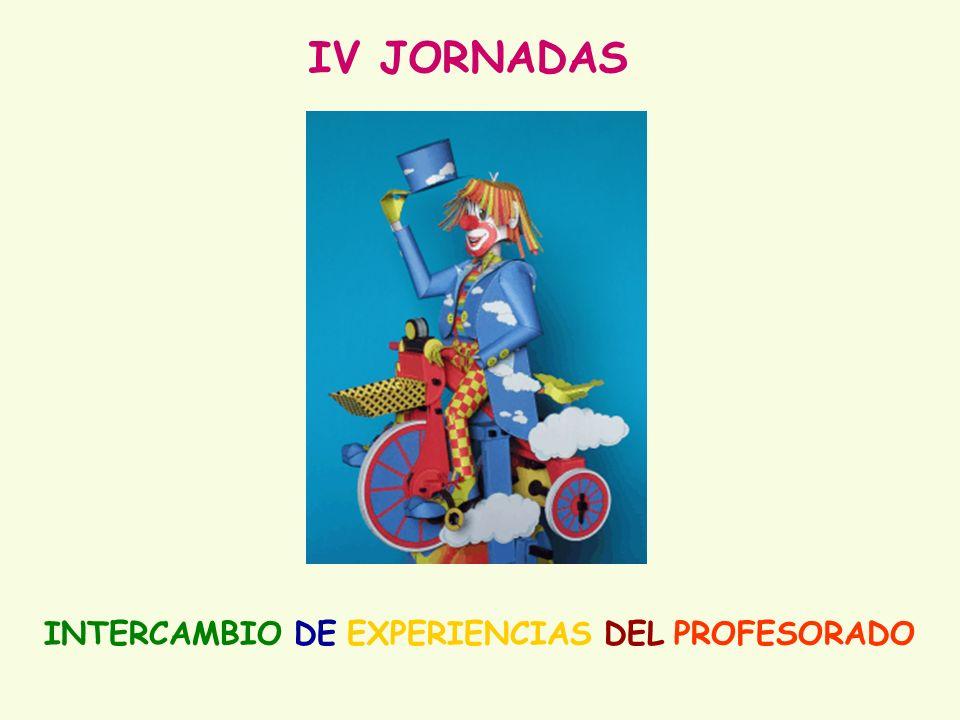 IV JORNADAS INTERCAMBIO DE EXPERIENCIAS DEL PROFESORADO