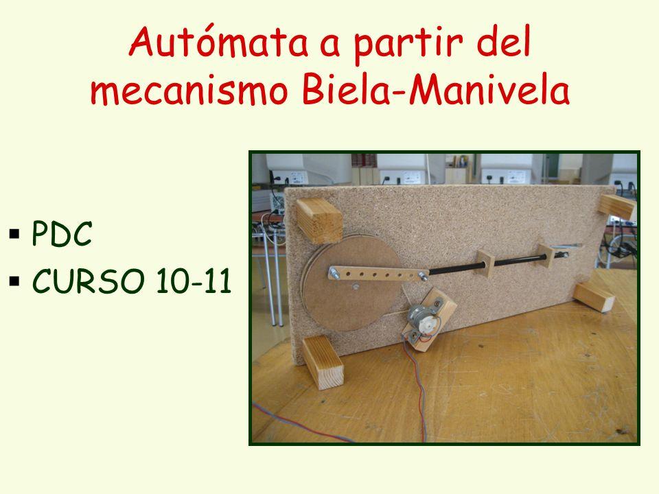 Autómata a partir del mecanismo Biela-Manivela