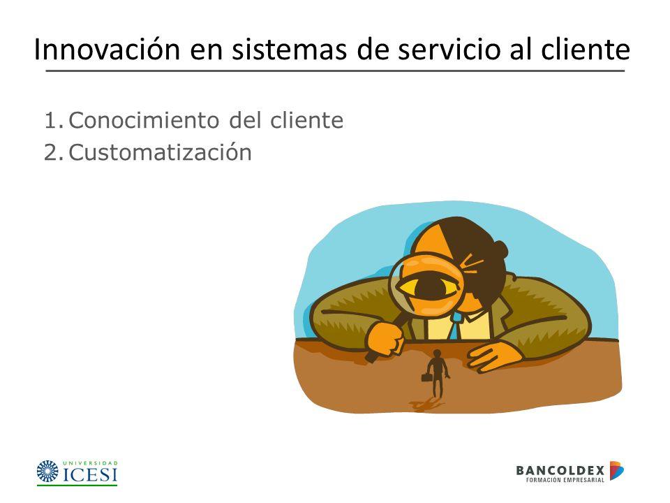 Innovación en sistemas de servicio al cliente