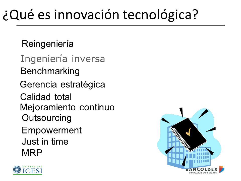 ¿Qué es innovación tecnológica