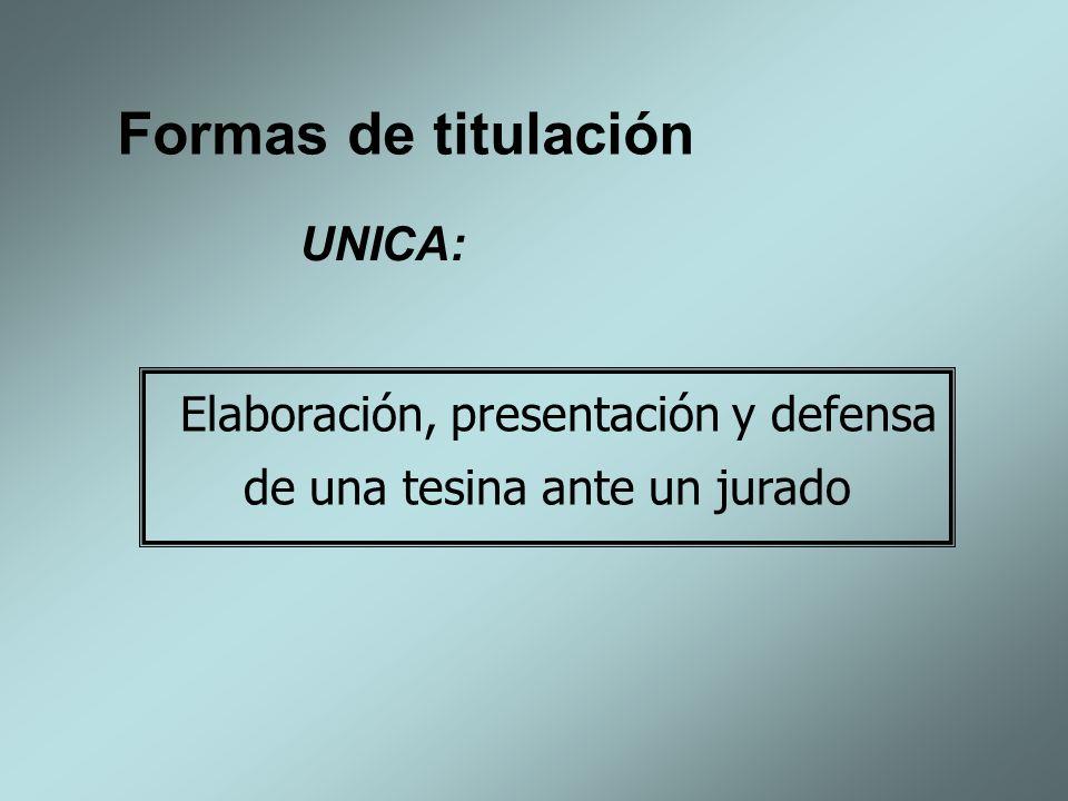 Elaboración, presentación y defensa de una tesina ante un jurado