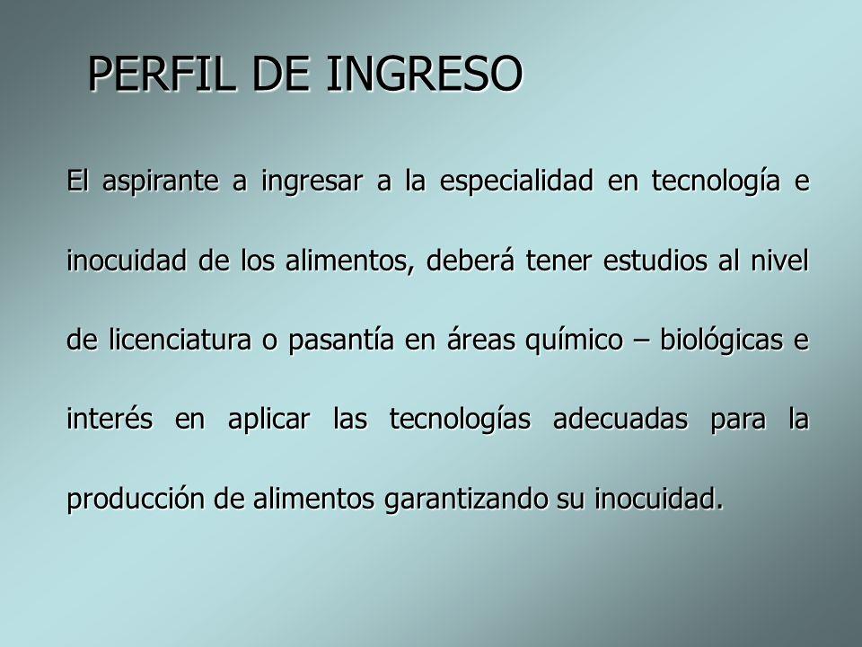 PERFIL DE INGRESO