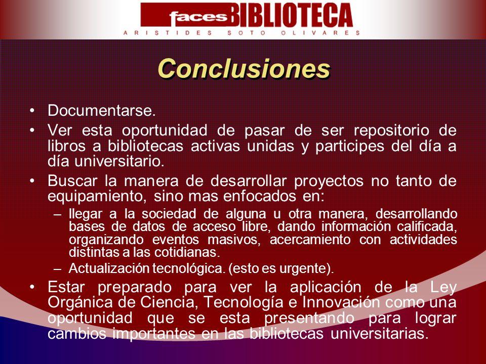Conclusiones Documentarse.