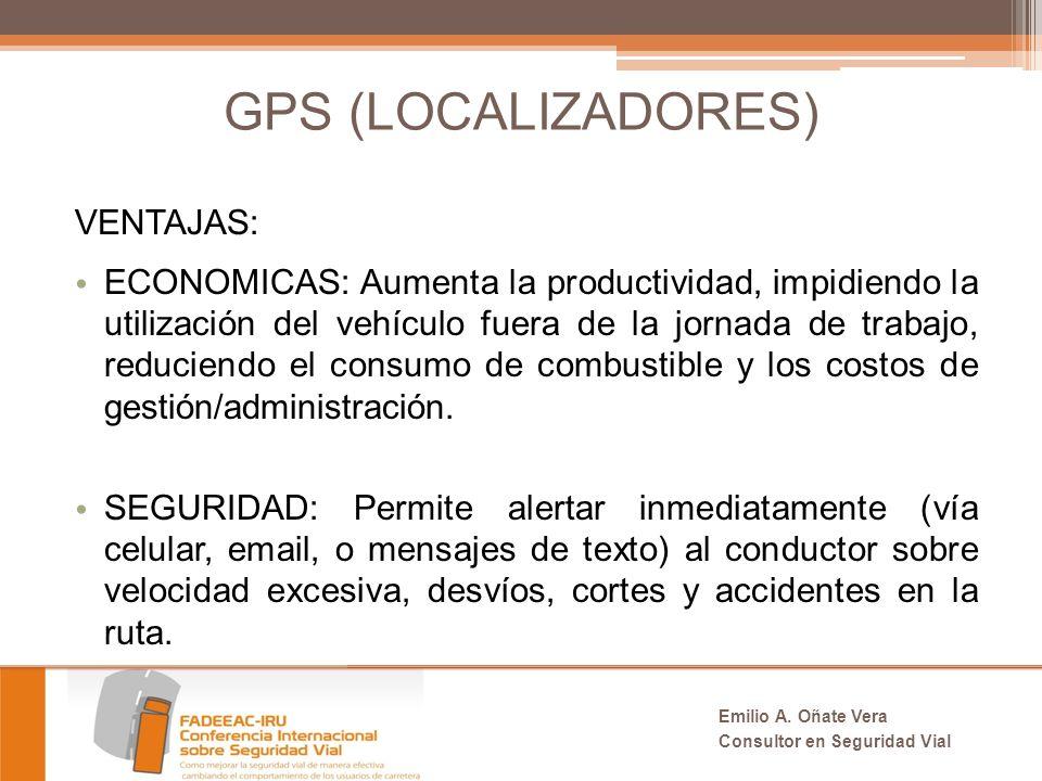 GPS (LOCALIZADORES) VENTAJAS: